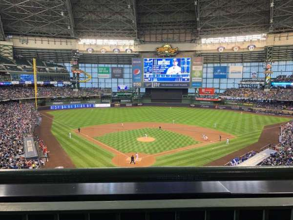 Miller Park, section: 328, row: 1, seat: 6