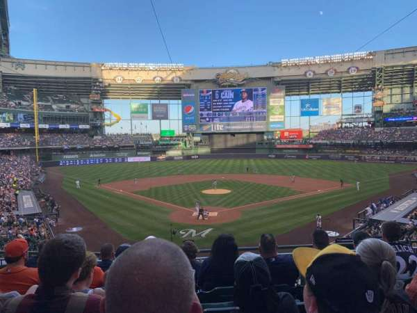 Miller Park, section: 218, row: 6, seat: 10