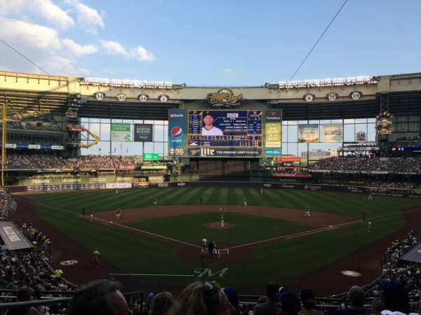 Miller Park, section: 218, row: 8, seat: 2