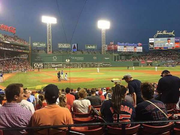 Fenway Park, section: Loge Box 126, row: AA, seat: 4