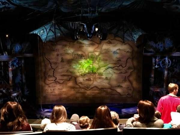 Gershwin Theatre, section: Rear Mezzanine C, row: F, seat: 109