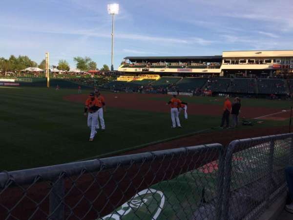 Raley Field, section: 122, row: 4, seat: 12