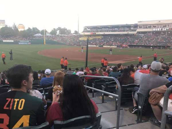 Sutter Health Park, section: 122, row: 13, seat: 1