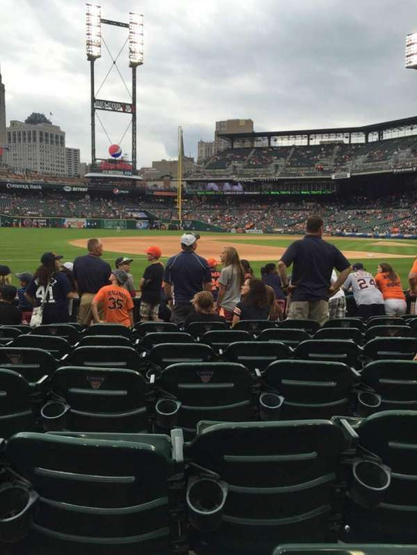 Comerica Park, section: 137, row: 9, seat: 13
