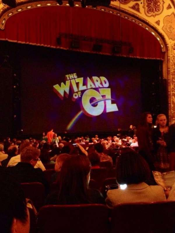 Cadillac Palace Theater, section: Orchestra L, row: S, seat: 13
