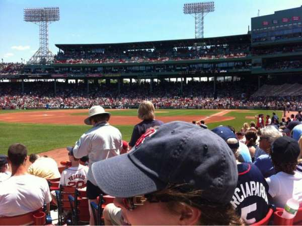 Fenway Park, section: Field Box 82, seat: 4