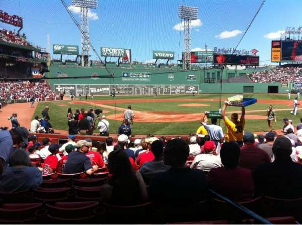 Fenway Park, section: Field box 42, row: M