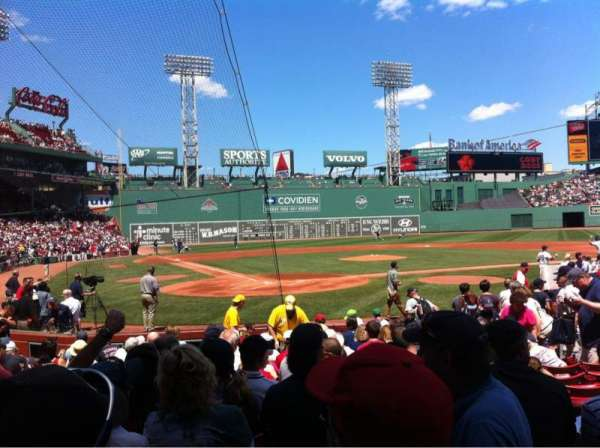 Fenway Park, section: Field box 40, row: M