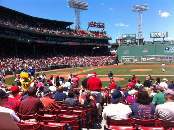 Fenway Park, section: Field box 33, row: K, seat: 4