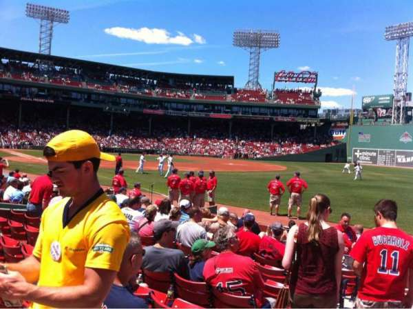 Fenway Park, section: Right Field box 7, row: K, seat: 22