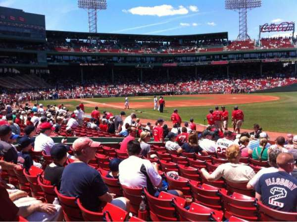 Fenway Park, section: Right Field box 96, row: Bb, seat: 1