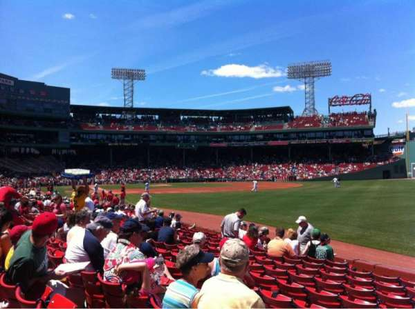 Fenway Park, section: Right Field box 94, row: Dd, seat: 1