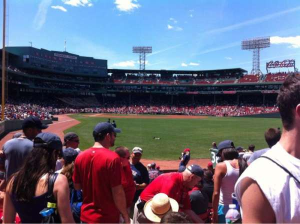 Fenway Park, section: Right Field box 1, seat: 15