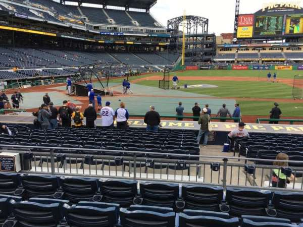 PNC Park, section: 112, row: E, seat: 7
