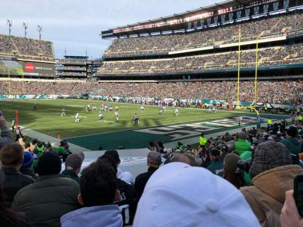 Lincoln Financial Field, section: 107, row: 15, seat: 4