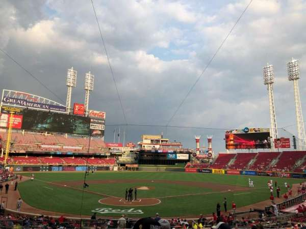 Great American Ball Park, section: 124, row: F, seat: 13