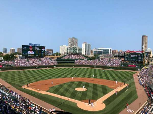 Wrigley Field, section: 316L, row: 2, seat: 5