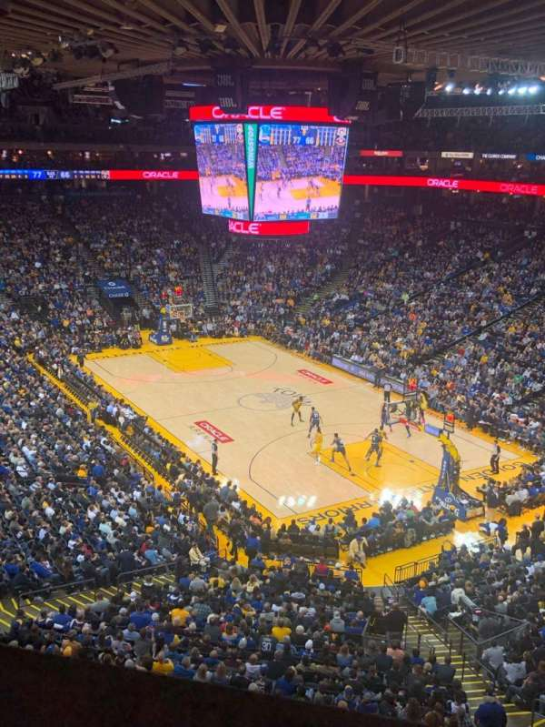 Oracle Arena, section: 212, row: 1, seat: 3