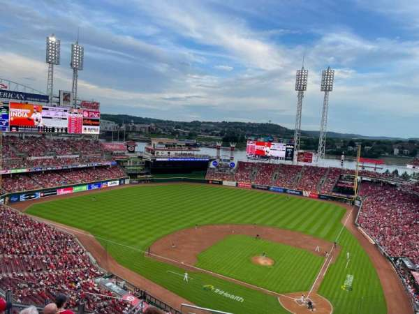 Great American Ball Park, section: 520, row: H, seat: 1