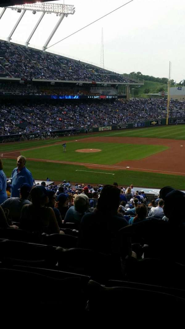 Kauffman Stadium, section: 238, row: NN, seat: 7