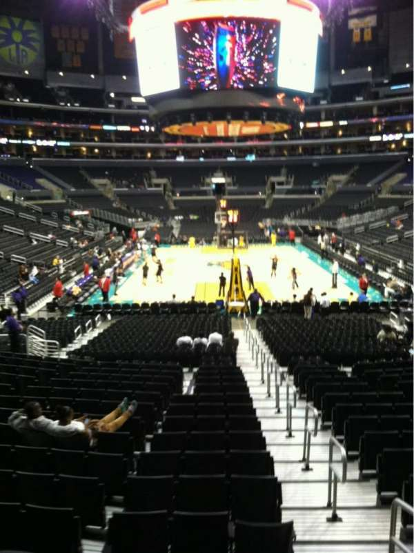 Staples Center, section: 116, row: 18, seat: 1