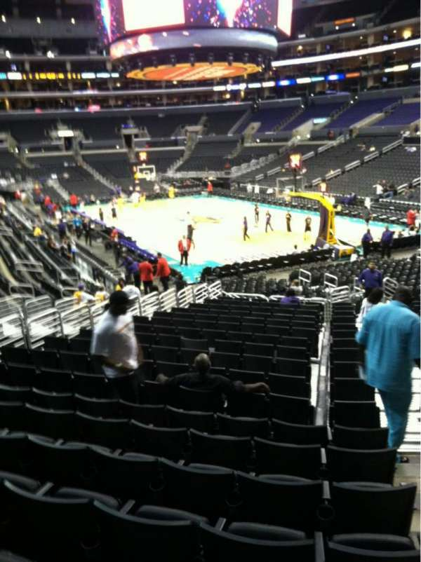 Staples Center, section: 118, row: 20, seat: 1