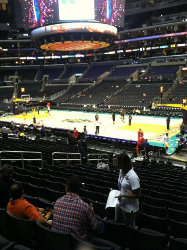 Staples Center, section: 118, row: 20