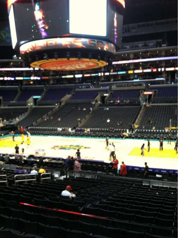 Staples Center, section: 119, row: 18w