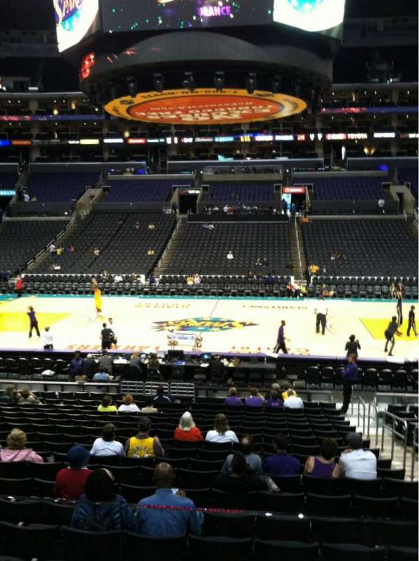 Staples Center, section: 101, row: 20