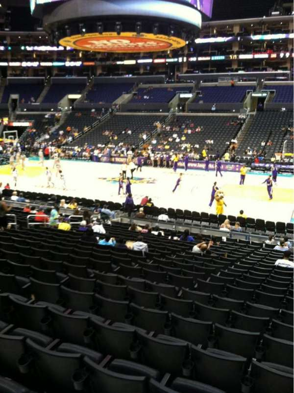 Staples Center, section: 110, row: 20, seat: 3