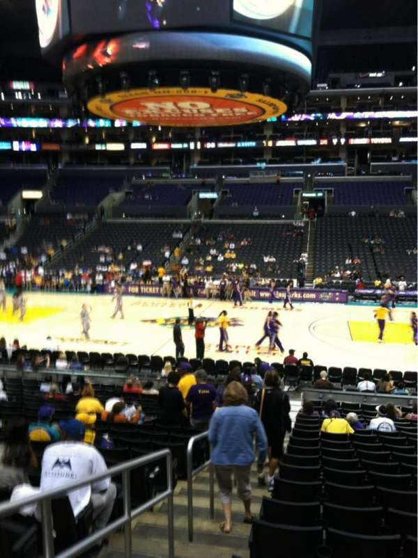 Staples Center, section: 110, row: 19, seat: 20