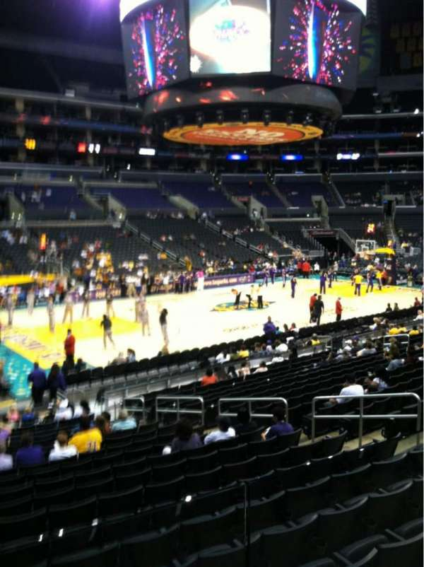 Staples Center, section: 113, row: 18, seat: 10