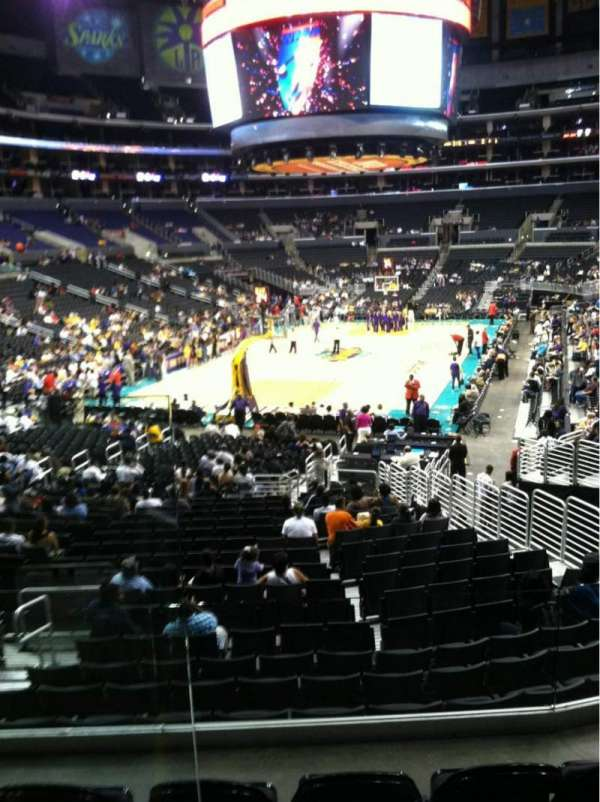 Staples Center, section: 215, row: 2, seat: 8