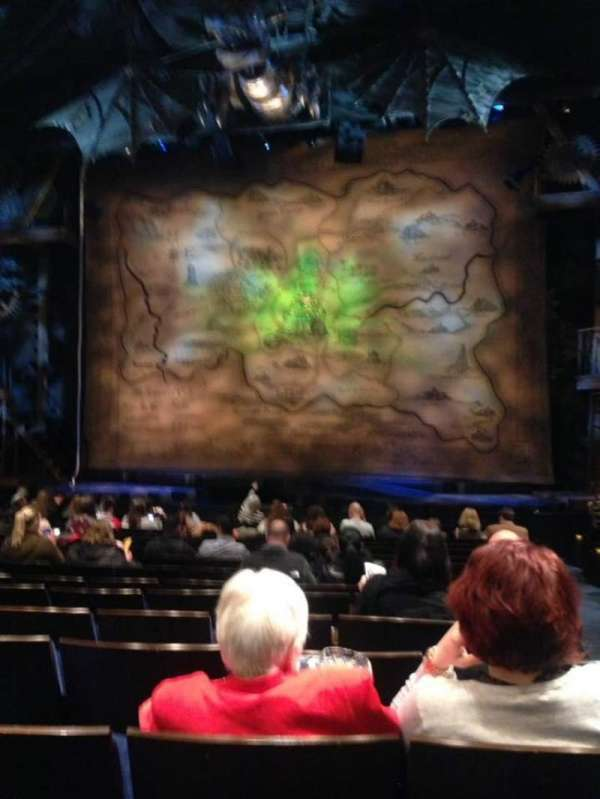 Gershwin Theatre, section: Orchestra C, row: L, seat: 118
