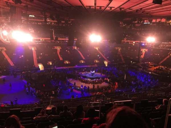 Madison Square Garden, section: 209, row: 8, seat: 13