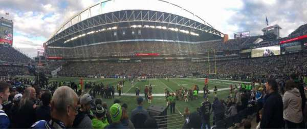 CenturyLink Field, section: 133, row: F, seat: 1