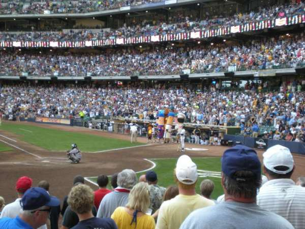 American Family Field, section: 121, row: 11, seat: 1