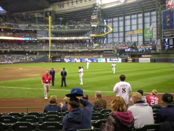 American Family Field, section: 111, row: 5, seat: 6