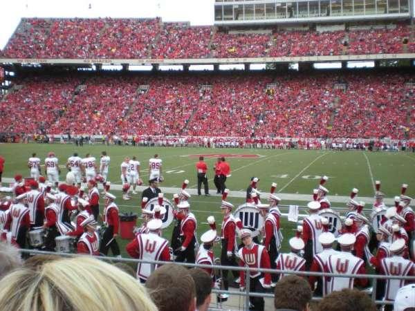 Camp Randall Stadium, section: U, row: 1
