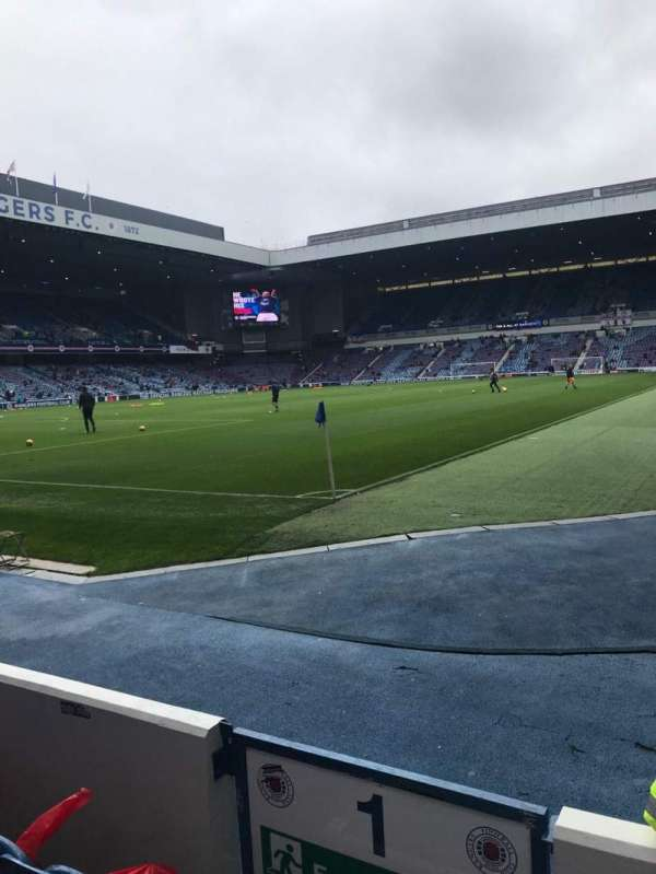 Ibrox Stadium, section: Bf1, row: D, seat: 2