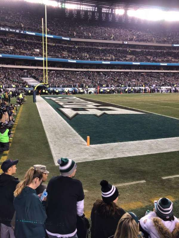 Lincoln Financial Field, section: 134, row: 1, seat: 13