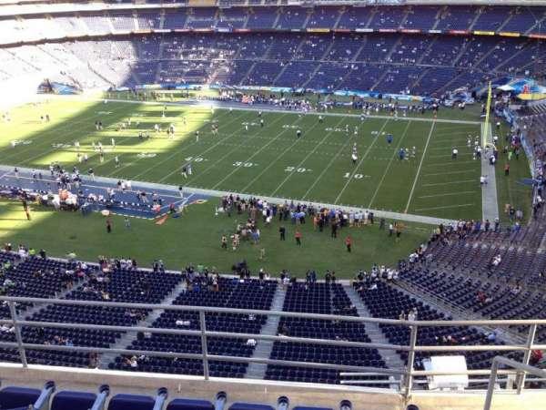 San Diego Stadium, section: V10, row: 5a, seat: 7