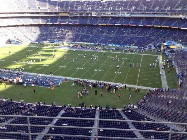 San Diego Stadium, section: V10, row: 5a, seat: 1