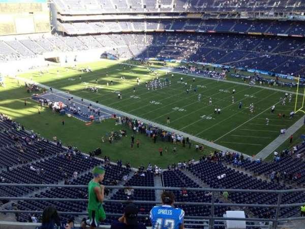 San Diego Stadium, section: V13, row: 5a, seat: 3