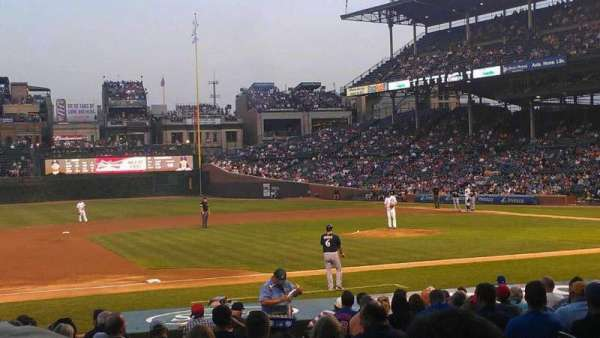 Wrigley Field, section: 110, row: 5, seat: 7