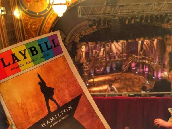 Richard Rodgers Theatre, section: Rear Mezzanine L, row: C, seat: 19