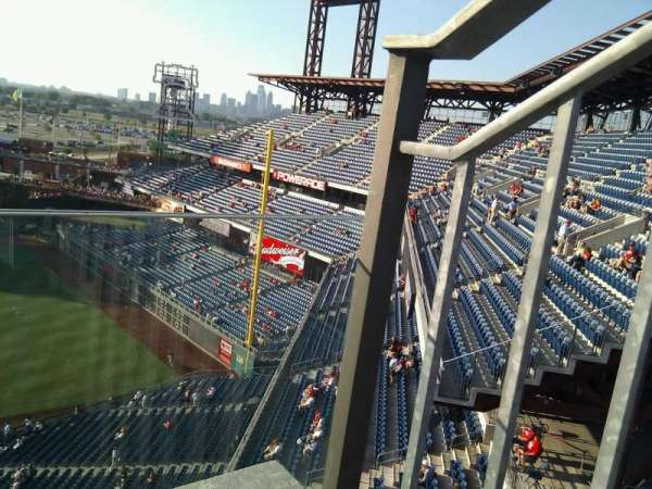 Citizens Bank Park, section: 412, row: 1, seat: 1