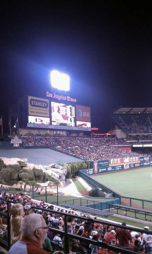 Angel Stadium, section: 203, row: B, seat: 6