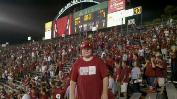 Razorback Stadium, section: 20, row: 35, seat: 9