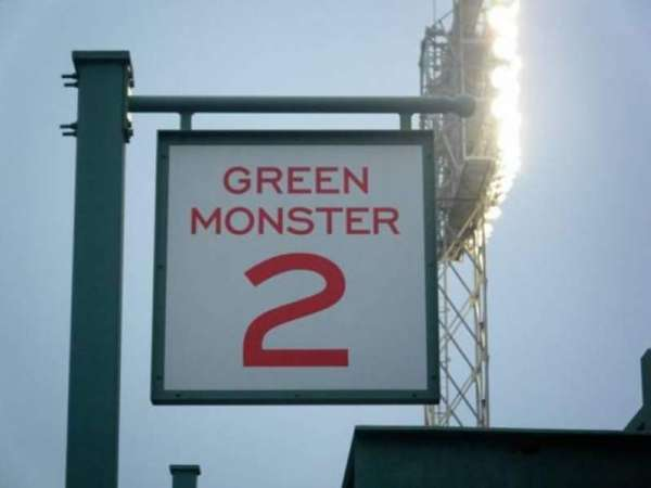 Fenway Park, section: Green Monster 2